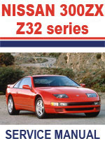 Nissan 300ZX Z32 Series 1990-1996 Workshop repair Manuals
