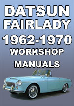 Datsun Fairlady Sports 1962-1970 Workshop Repair Manua
