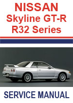 Nissan Skyline R32 Series with GTR Supplement Workshop Manual